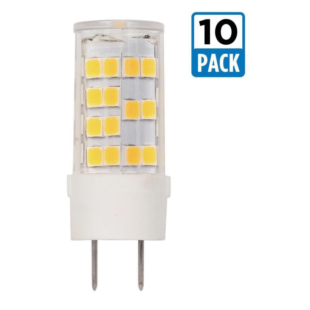 35-Watt Equivalent G8 Dimmable LED Light Bulb Bright White (10-Pack)