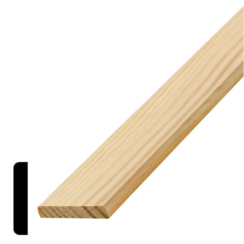 WM 972 3/8 in. x 2 in. x 96 in. Wood Pine Mullion Moulding