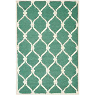 Cambridge Teal/Ivory 5 ft. x 8 ft. Area Rug