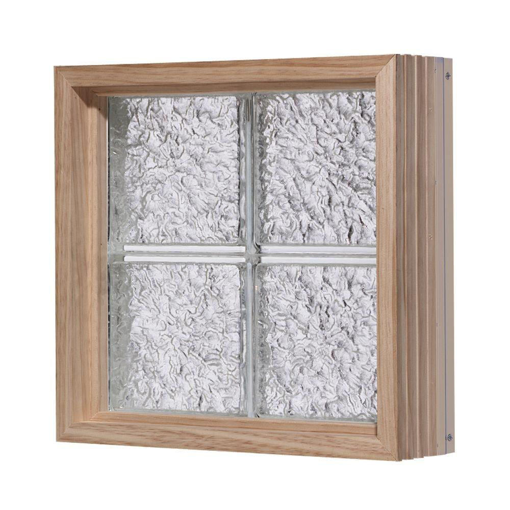 Pittsburgh Corning 72 in. x 40 in. LightWise IceScapes Pattern Aluminum-Clad Glass Block Window