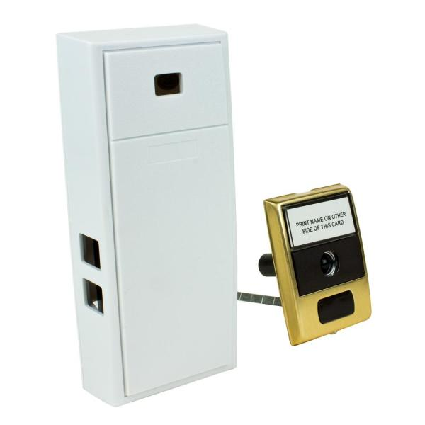 2-Note Mechanical Wireless Doorbell Chime and Doorbell Push Button with Built-In Door Viewer
