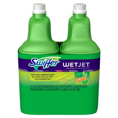 WetJet 42 oz. Multi-Purpose Floor Cleaner Refill with Gain Scent (2-Pack)