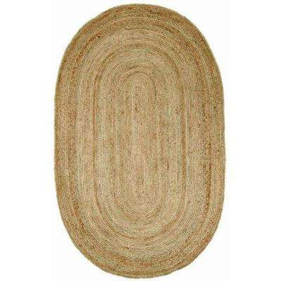 Rigo Jute Natural 4 ft. x 6 ft. Oval Area Rug