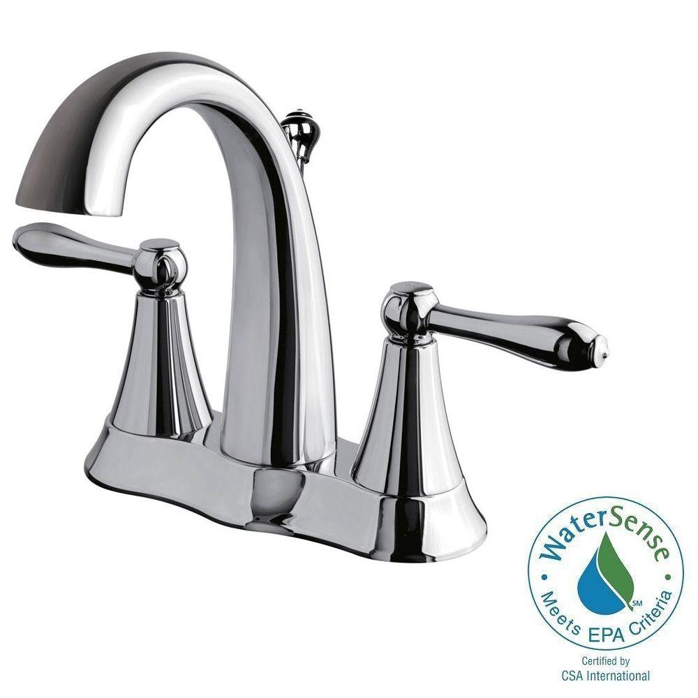Ultra Faucets Transitional Collection 4 in. Centerset 2-Handle Bathroom Faucet in Chrome