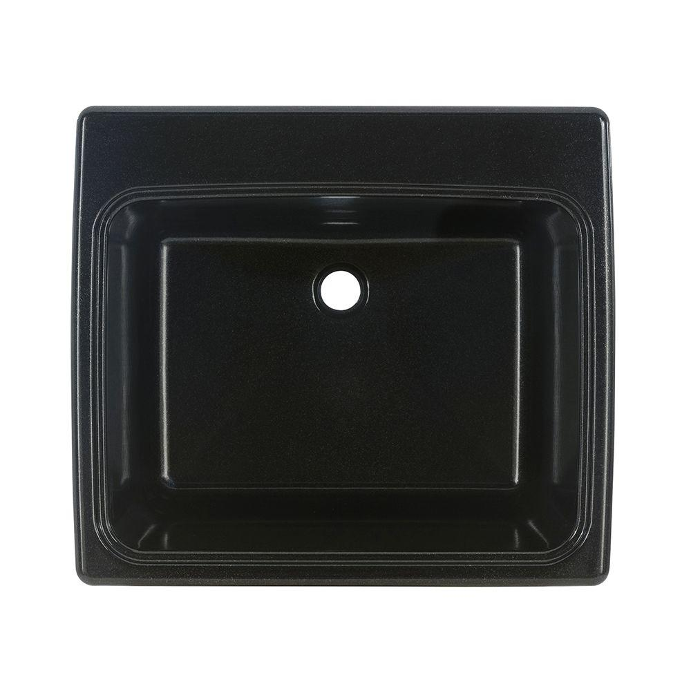 SWAN 25 In. X 22 In. X 13.6 In. Solid Surface Undermount .