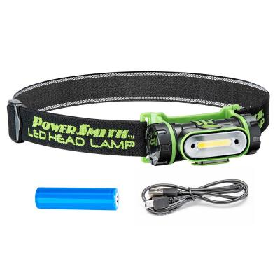 250 Lumens LED Motion-Sensor Rotatable Weatherproof Flood Head Lamp with High/Low/Flashing Modes and Charger