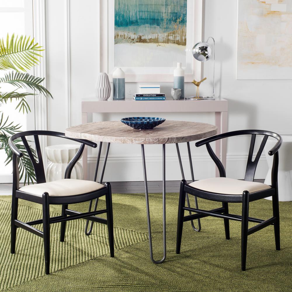safavieh aramis black dining chair set of 2 sea6000b set2 the home depot. Black Bedroom Furniture Sets. Home Design Ideas