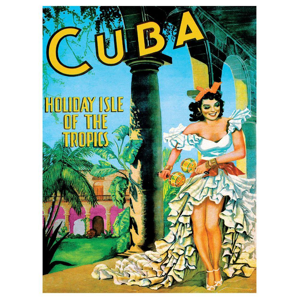24 in. x 32 in. Cuba Holiday Isle Canvas Art