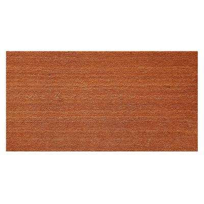 Natural Coir and Vinyl Door Mat 18 in. x 30 in.