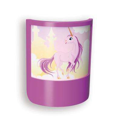 Purple Unicorn Shade LED Night Light