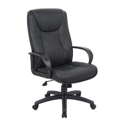 Black Chairs at Work High Back