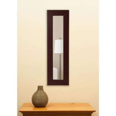 29.5 in. x 11.5 in. Dark Mahogany Vanity Mirror Single Panel
