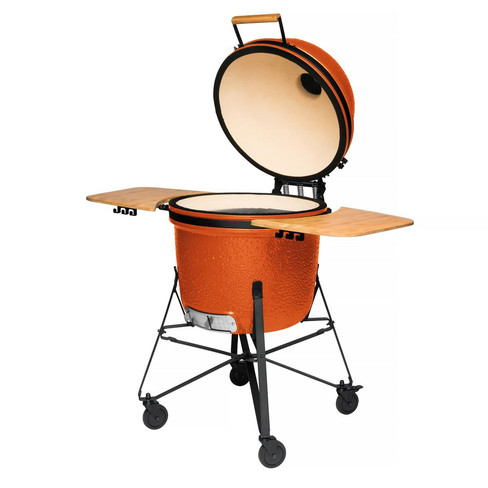 Ceramic Charcoal Grill in Orange
