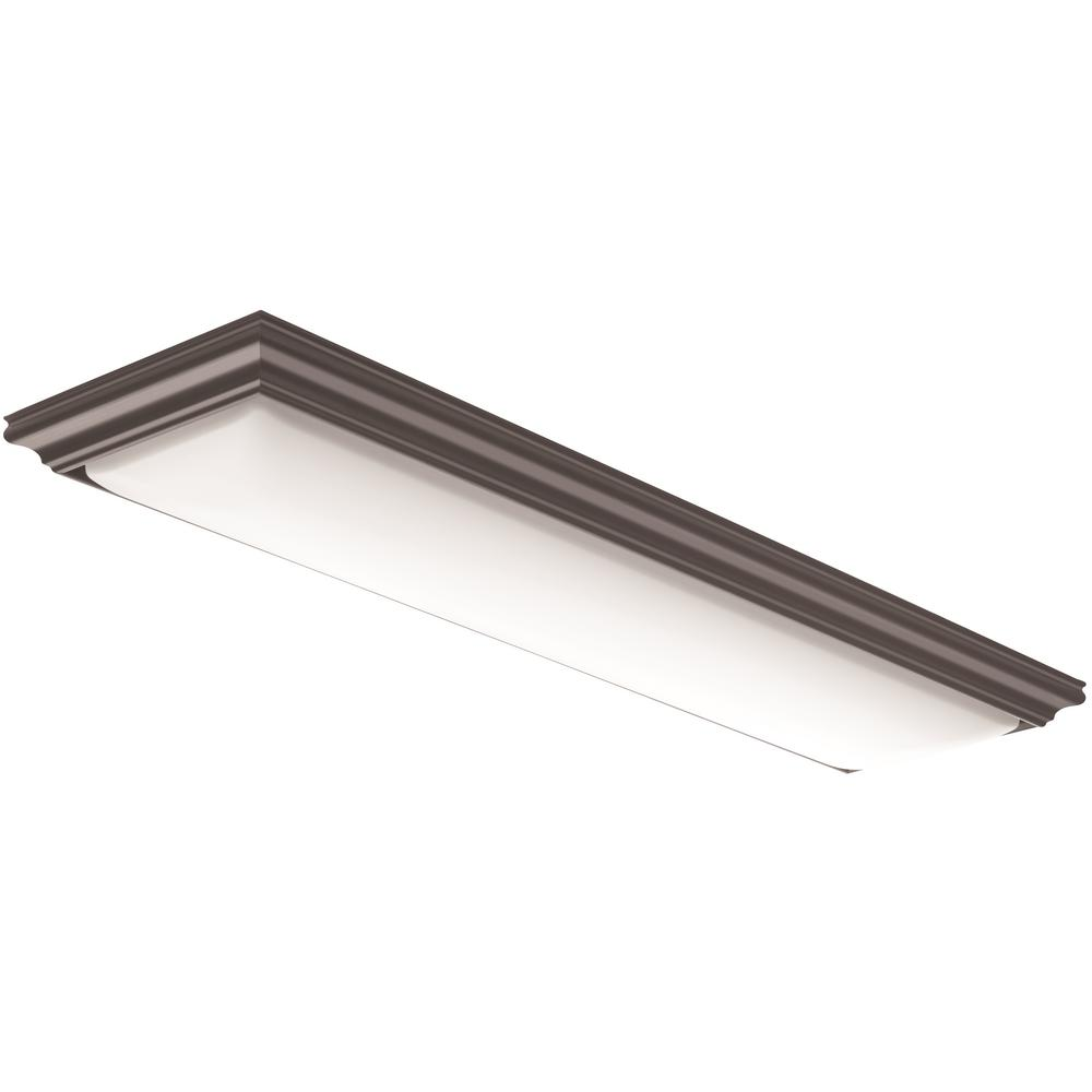 Lithonia Lighting Vanderlyn 4 Ft. Brown LED Flush Mount