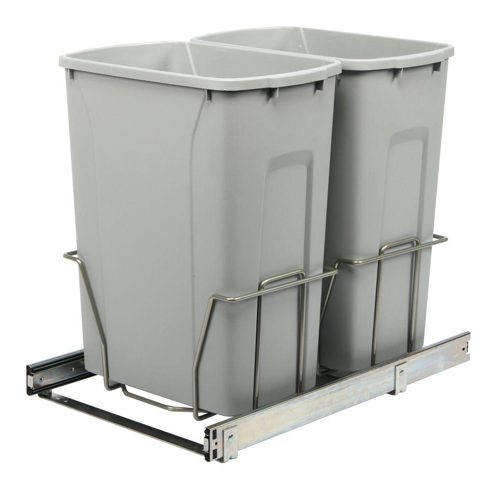 Pull Out Trash Cans - Kitchen Cabinet Organizers - The Home Depot
