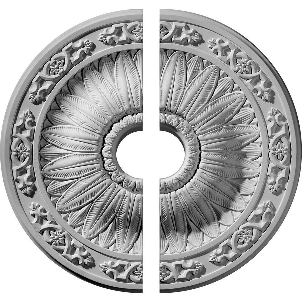 Ekena Millwork 20 1/4 In. O.d. X 3 1/2 In. I.d. X 1 1/2 In. P Lunel Ceiling Medallion (2 Piece)