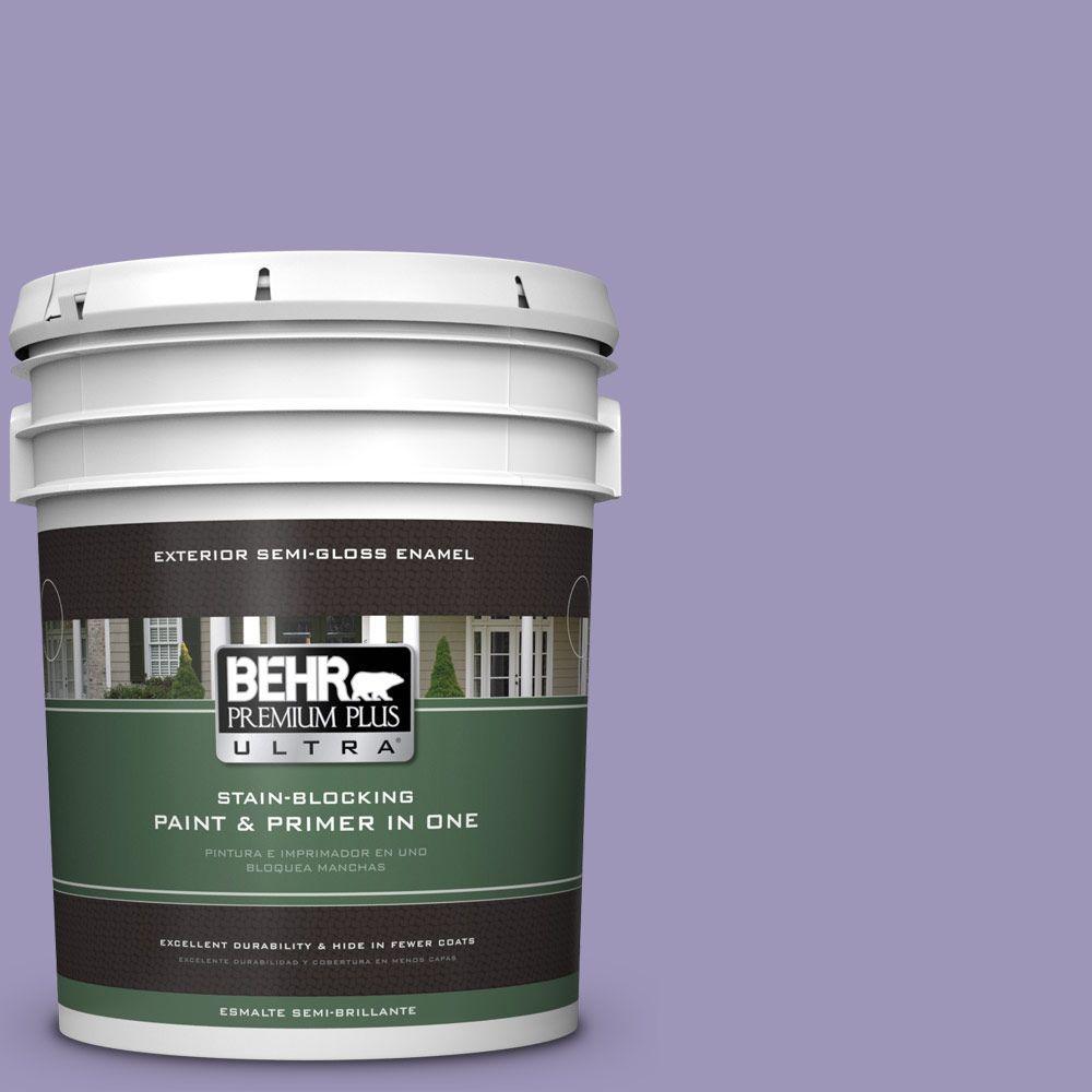 BEHR Premium Plus Ultra 5-gal. #640D-5 June Berry Semi-Gloss Enamel Exterior Paint