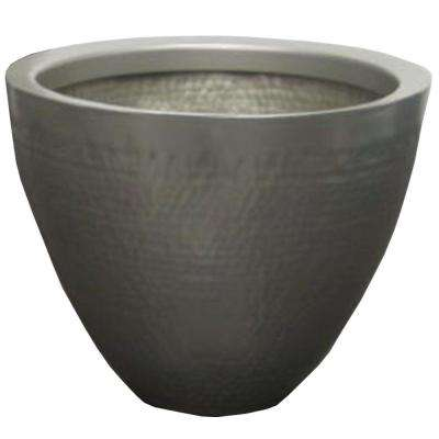 14 in. W x 11 in. H Hammered Metal Tapered Planter