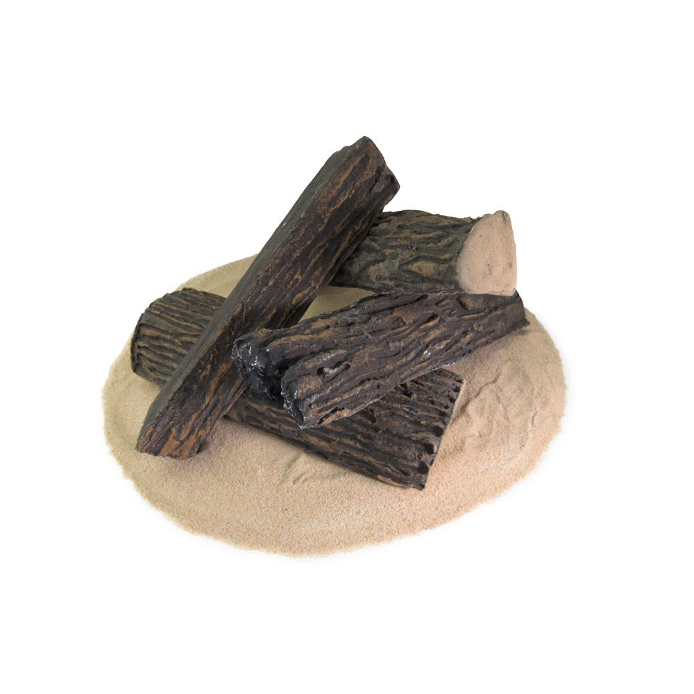 Remarkable Dark Pine Ceramic Decorative Wood Fire Logs For Indoor And Outdoor Fire Pits And Fireplaces 4 Pack Download Free Architecture Designs Philgrimeyleaguecom
