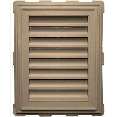 18 in. x 24 in. Classic Brickmould Gable Vent in Tan