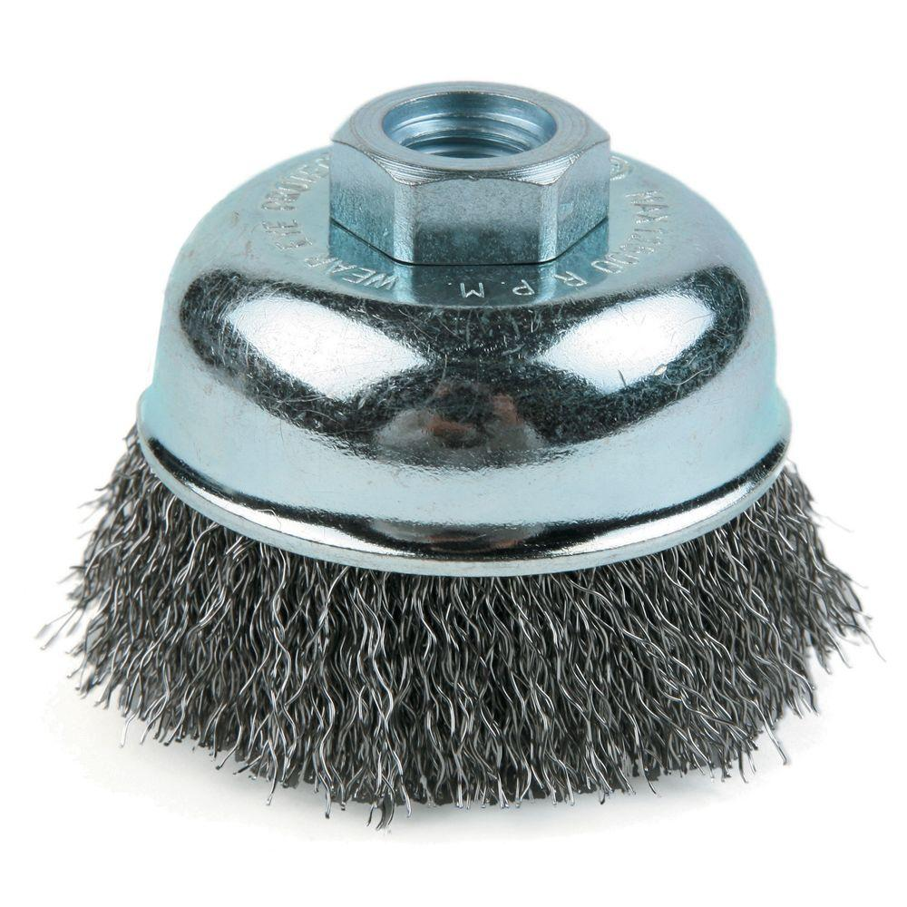Lincoln Electric 3 in. Crimped Cup Brush with 5/8 in. -11 UNC-KH290 ...