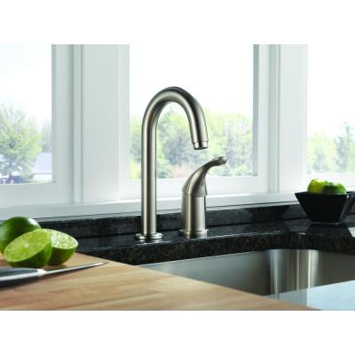 Classic Single-Handle Bar Faucet in Stainless Steel