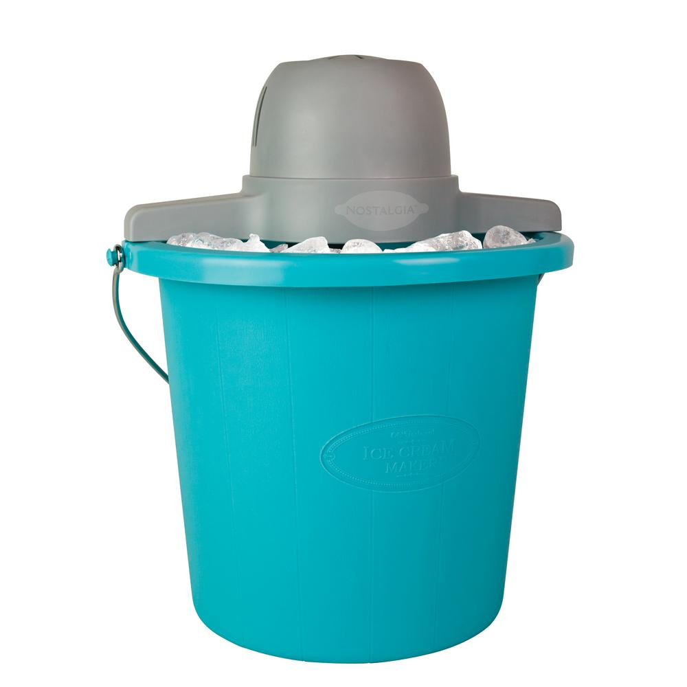 Image result for Nostalgia ICMP400BLUE 4-Quart Electric Ice Cream Maker