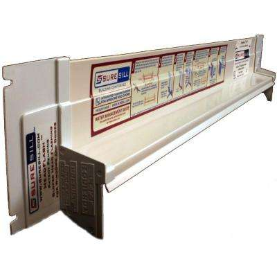 1-3/8 in. x 124 in. White PVC Sloped Head Flashing for Door and Window Installation and Flashing
