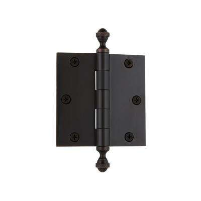 3.5 in. Acorn Tip Residential Hinge with Square Corners in Timeless Bronze