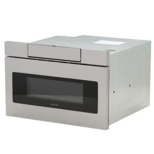Sharp 1.2 cu. ft. 24 inch Microwave Drawer with Concealed Controls, Built-In Stainless Steel with Sensor Cooking by Sharp