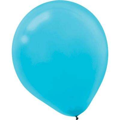 9 in. Caribbean Blue Latex Balloons (20-Count, 18-Pack)