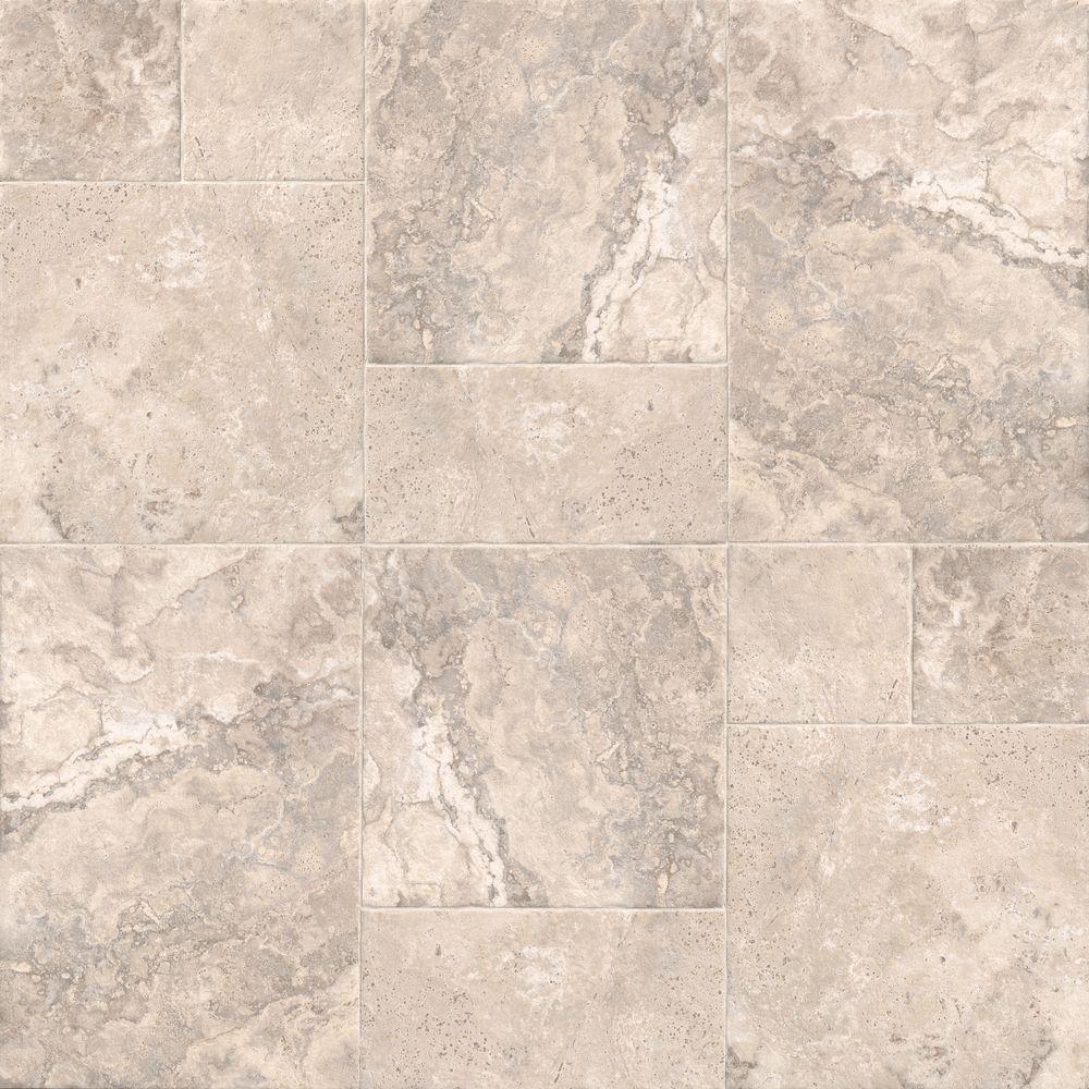 Villa Beige Versailles Pattern Glazed Porcelain Floor and Wall Tile (1 kit / 9.36 sq. ft. / case)
