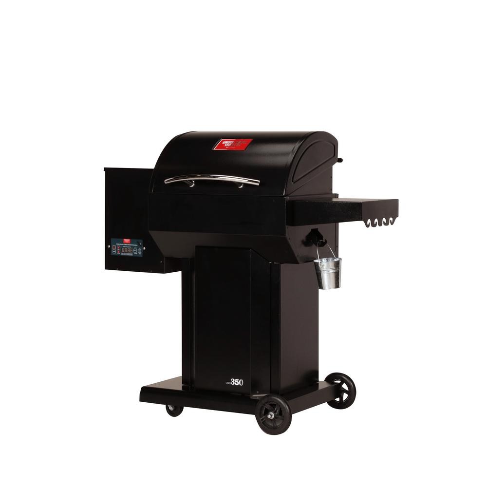 USSC The Hooch Wood Pellet Grill and Smoker in Black