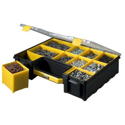 10-Compartment Pro-Go Deep Cup Small Parts Organizer, Yellow