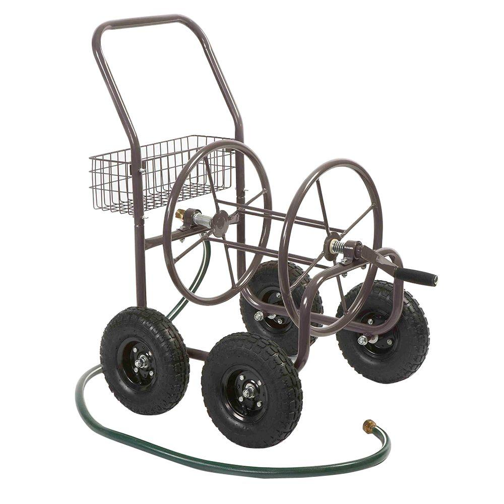 Liberty Garden Four Wheel Hose Cart-Pneumatic Tires