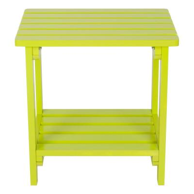 Lime Green Rectangular Wood Side Table