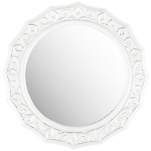 Gossamer Lace 24 in. x 25 in. MDF Wood and Glass Framed Mirror