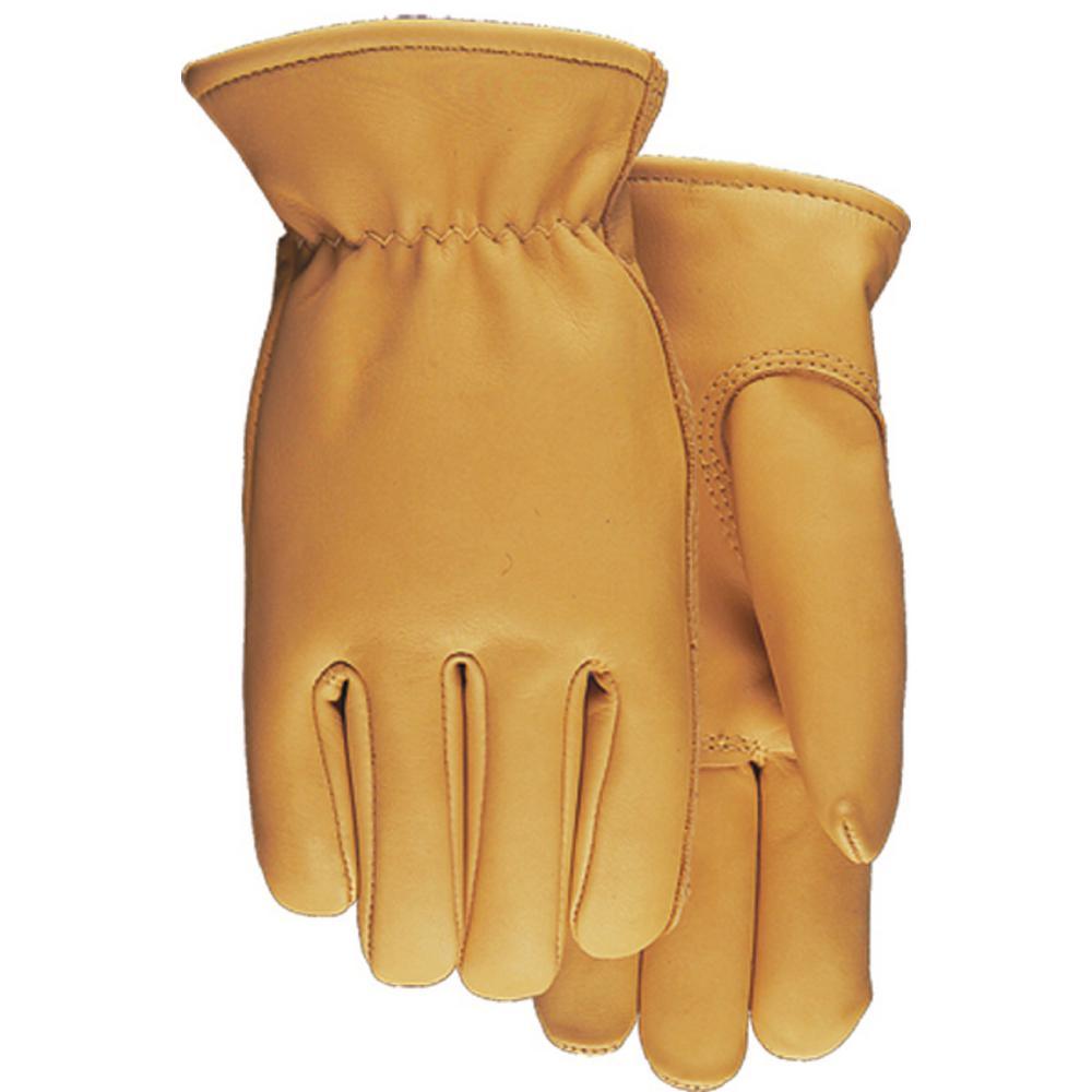 Cowhide Leather Work Gloves w// Keystone Thumb Size M