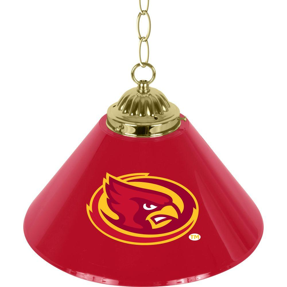 Iowa State University 14 in. Single Shade Stainless Steel Hanging Lamp