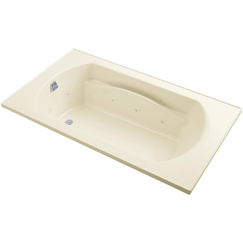 STERLING Lawson 6 ft. Whirlpool Tub with Reversible Drain in Biscuit ...