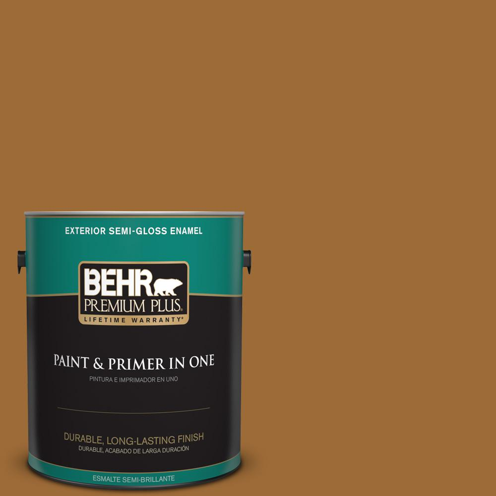 1 gal. #PPU6-01 Curry Powder Semi-Gloss Enamel Exterior Paint