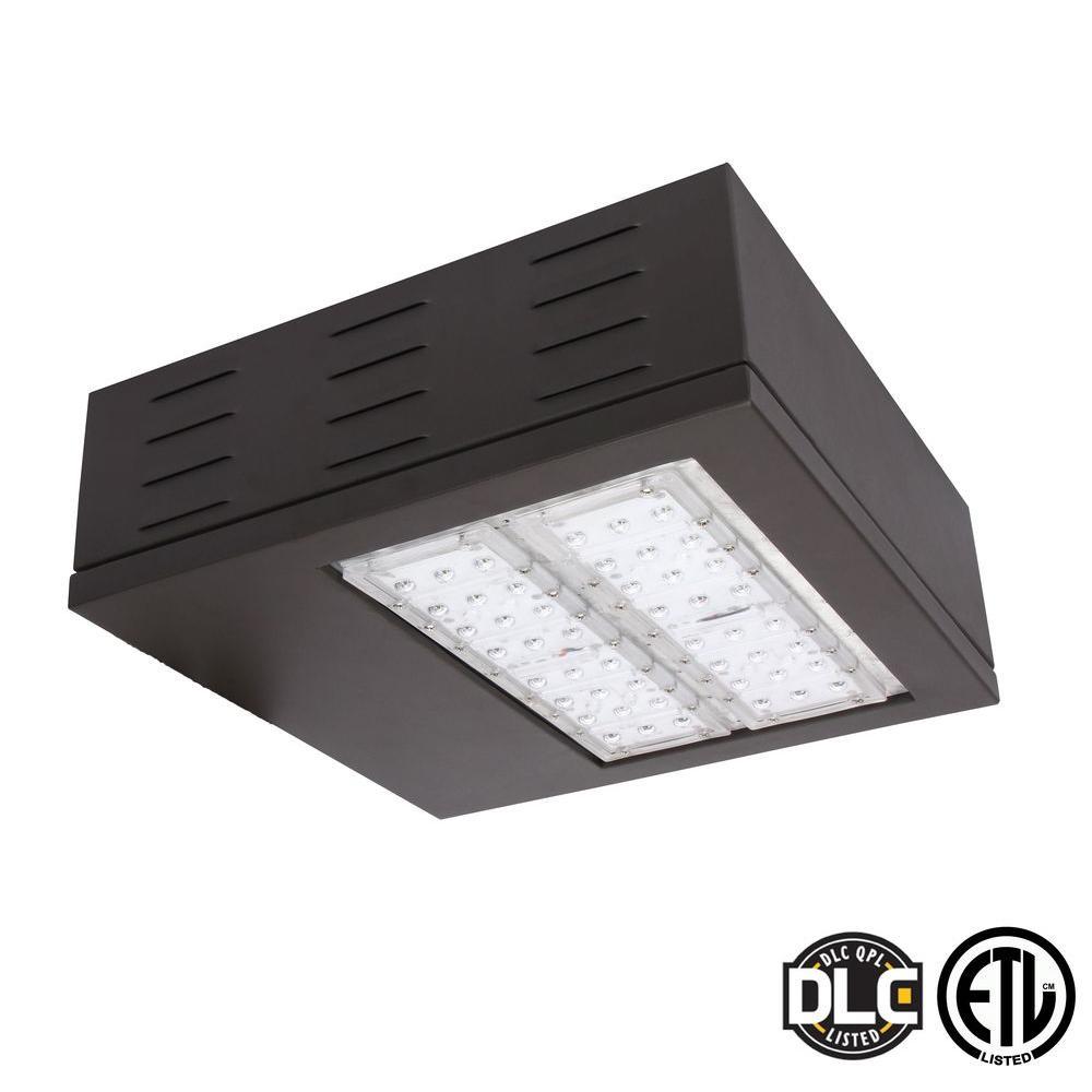 100-Watt Brown 5000K LED Outdoor Natural White Area Light