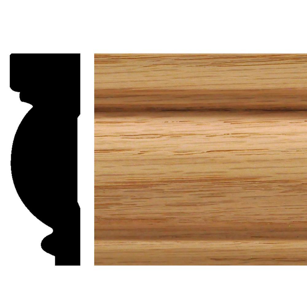 9202 - 27/32 in. x 2-5/8 in. x 90 in. Oak Casing/Chair Rail Moulding