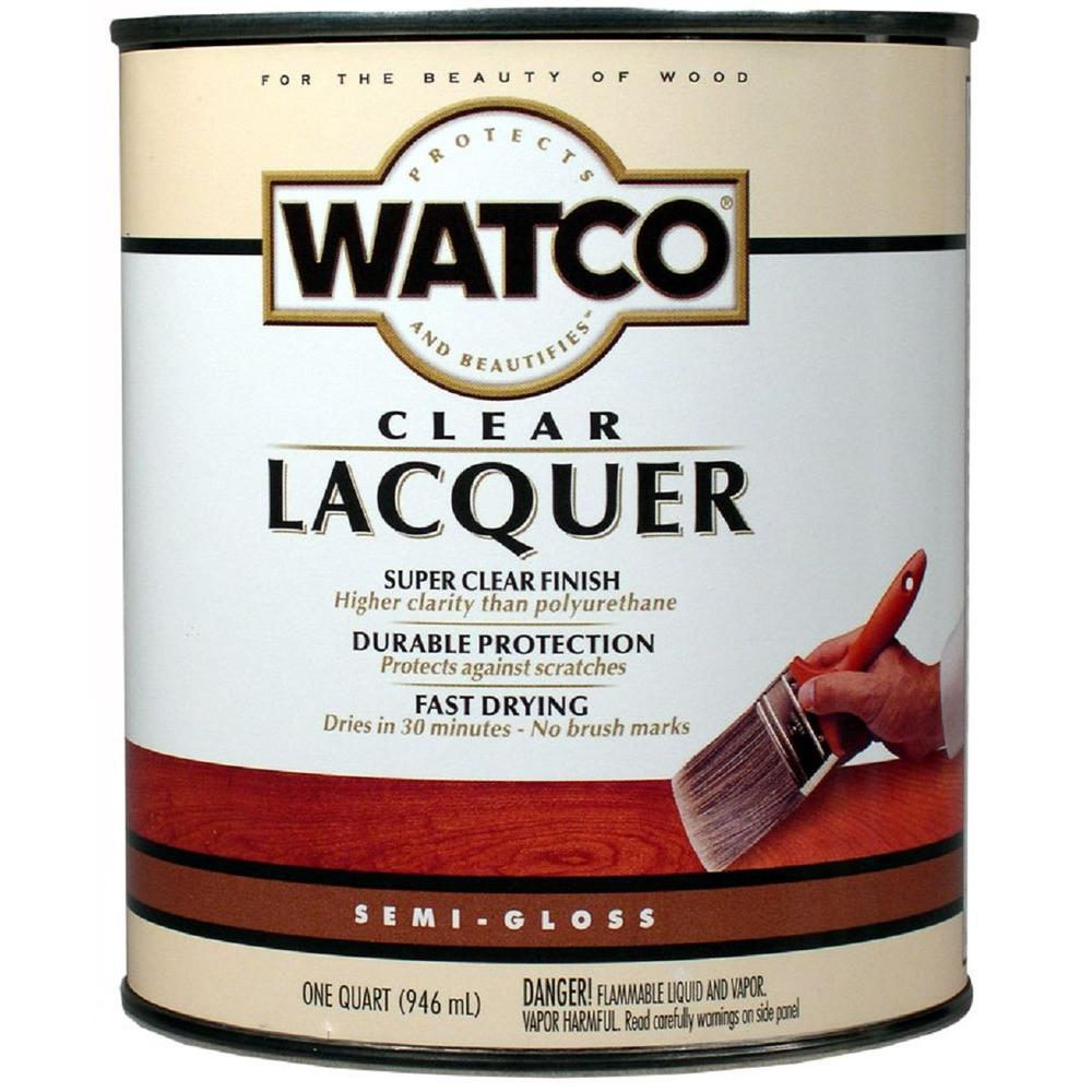 Watco 1 Qt Clear Semi Gloss Lacquer Wood Finish Case Of 6 63141 The Home Depot
