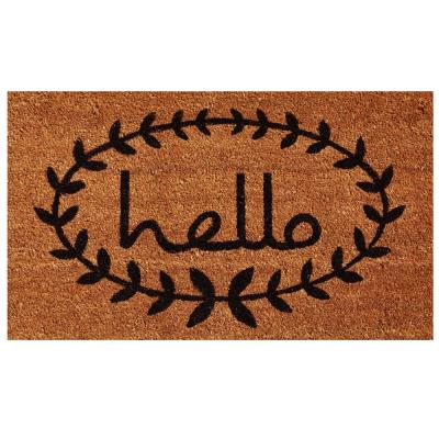 Calico Hello 24 in. x 36 in. Door Mat
