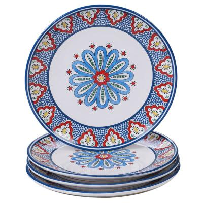 Tangier 4-Piece Multi-Colored 11 in. Dinner Plate Set