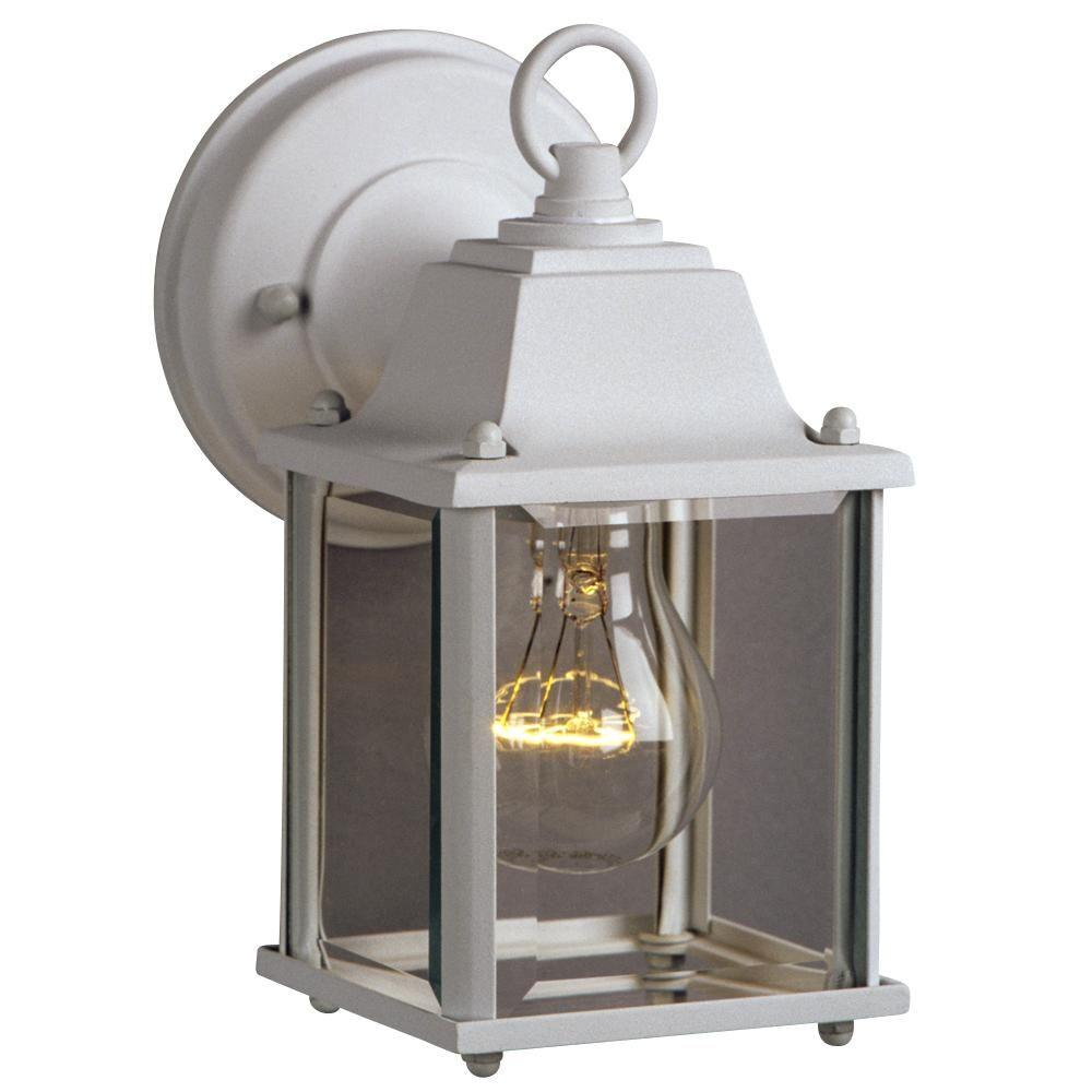 Filament Design Negron 1-Light White Outdoor Wall Lantern