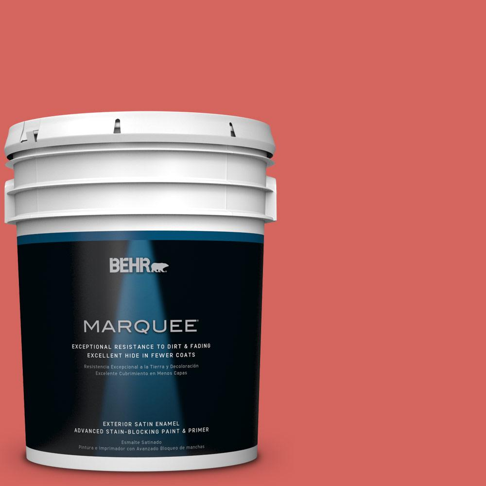 BEHR MARQUEE 5 gal. #HDC-MD-05 Desert Coral Satin Enamel Exterior Paint