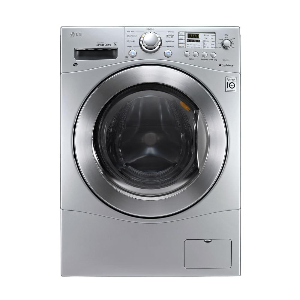 LG Electronics 2.3 cu. ft. Washer and Electric Ventless Dryer in Silver