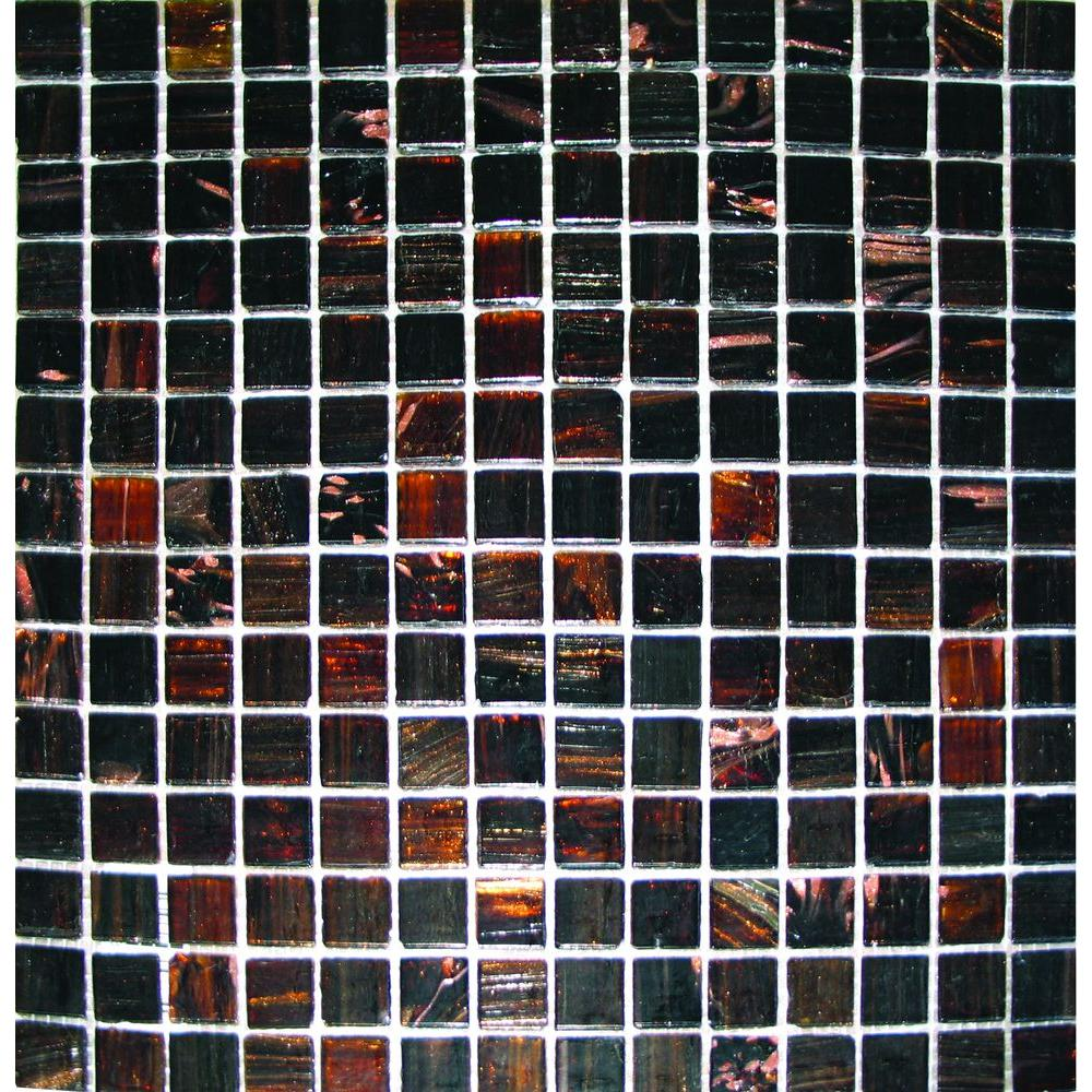 MS International Brown Iridescent 12 in. x 12 in. x 4 mm Glass Mesh-Mounted Mosaic Tile